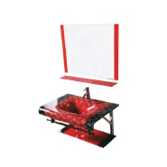 Red wall hang sink glass support for bathroom sink price glass basin