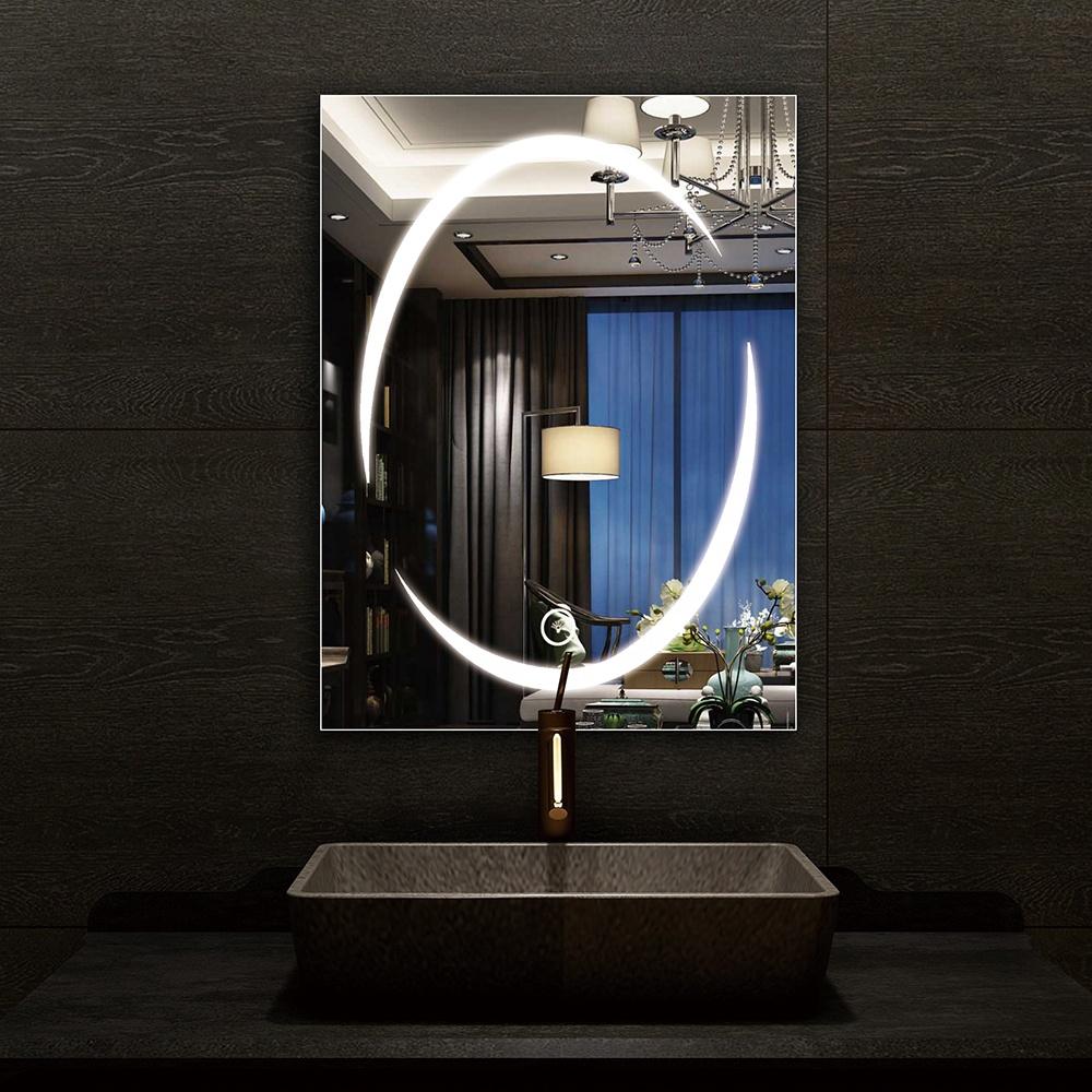 2020 new modern hotel bathroom luxury luminous led bathroom mirror lighting