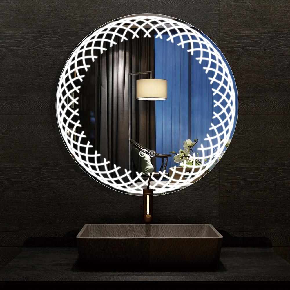 2020 hangzhou hot sell Round Bathmirrors Modern Smart Frameless Bathroom Vanity Led Mirror Anti-Fog Mirror