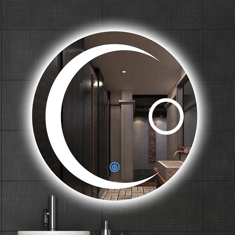 Makeup Round moon shaped wall decorative vanity mirrors