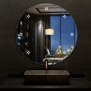 2020 hot sale factory direct round hotel led light bathroom mirror