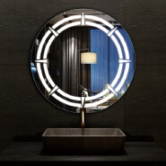 Wall mounted concentric Circle Fashion Design smart led bathroom Mirror