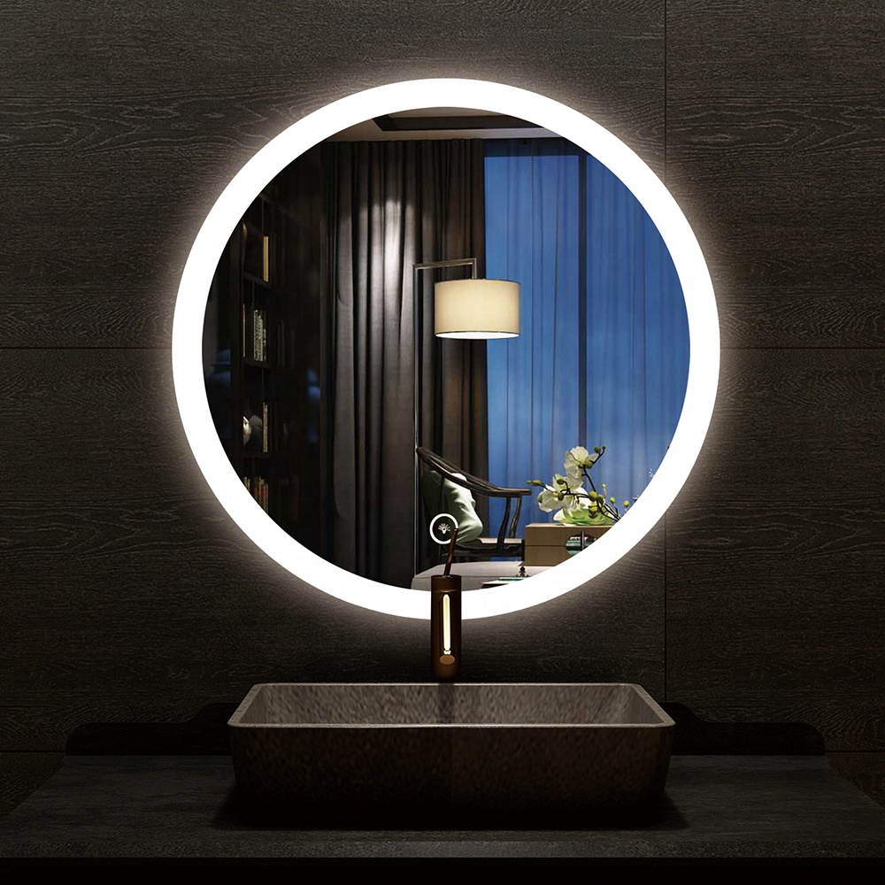 2020 Hotel bathroom round touch led bathroom mirror with led light