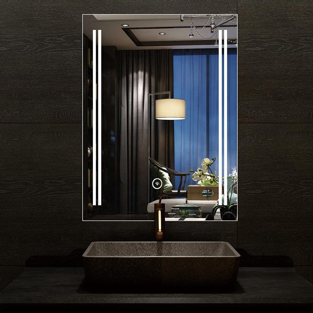 wholesale Chinese design simple style led bathroom mirror backlit bathroom mirror