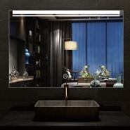 Wall mounted illuminated rectangle LED Bathroom Mirror luxury wall mirrors