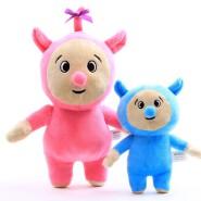 Pink and Blue Cartoon Plush Figure Toy Plush Stuffed Doll For Kids