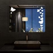 2020 hot sale hotel makeup 80x60 bathroom mirror with backlit led light