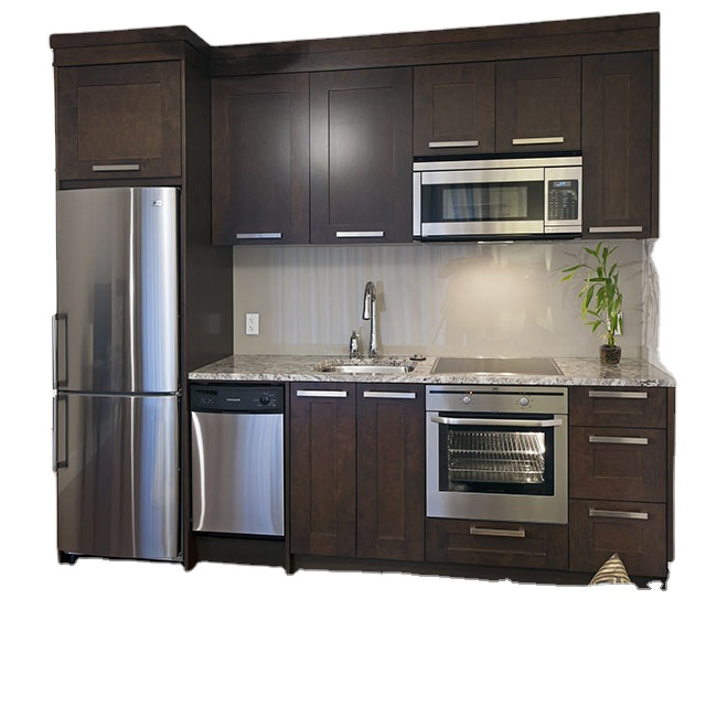 Hot Sale Sus 304 Free Sample Birch Diy Handleless New Model Small Kitchen Cabinet Set Supplier In China