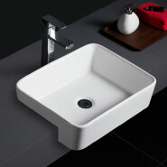 590 New design table mounted cheap ceramic semi counter sinks for hotel