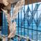 Luxury fashion indoor hotel decoration K9 crystal large chandelier light