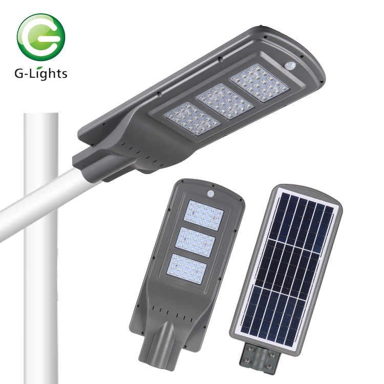 Automatic 60 100 120 watt CE ROHS ABS waterproof ip65 outdoor led solar road light with motion sensor