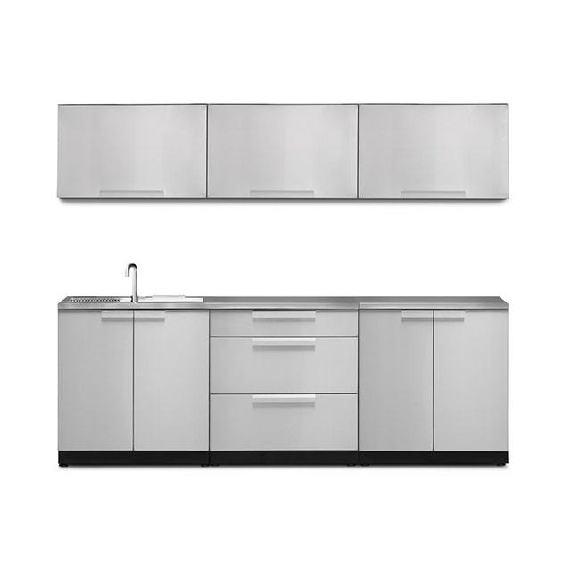 New Hot Anti-Brust Shanghai Glossy Outdoor Stainless Aluminum Kitchen Cabinet Design Factory China