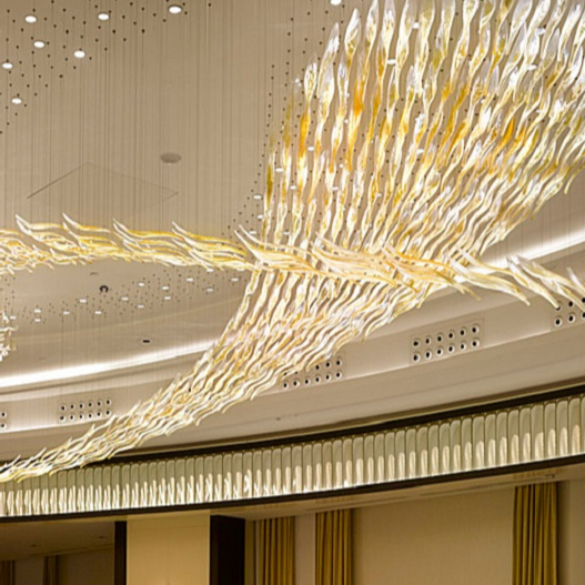 High quality professional one-stop customized hotel club modern luxury crystal led chandelier