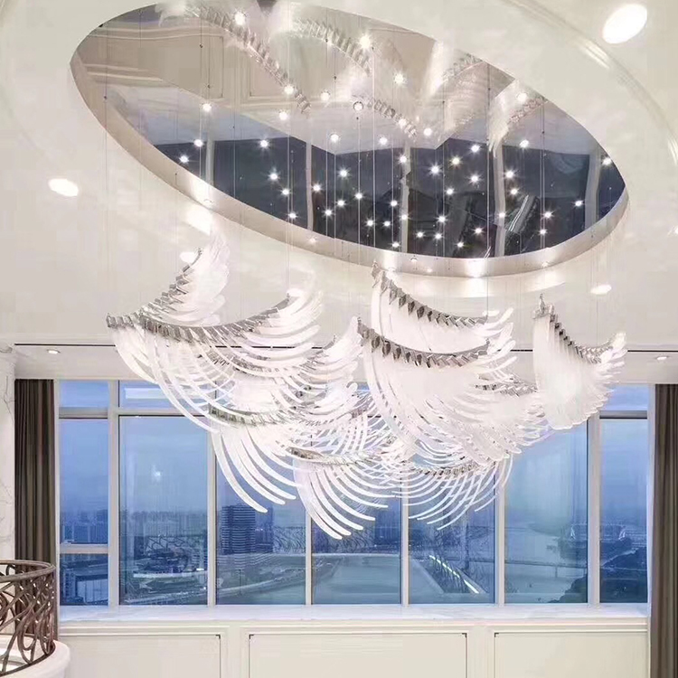 Engineering customization Luxury Hotel Hanging Modern project Crystal Chandelier for hotels