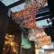Interior decoration lamps lanterns custom color transparent glass fashion art chandelier
