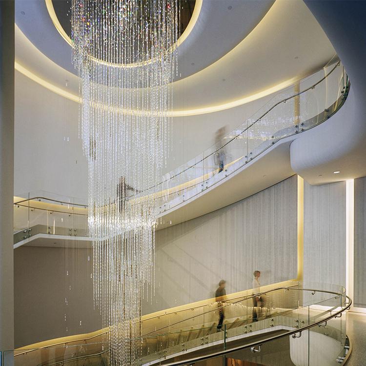 Factory direct sale new style custom modern hotel lobby big project chandelier pendant light