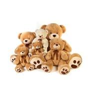 Custom yellow teddy bear stuffed animals toys with bowknot
