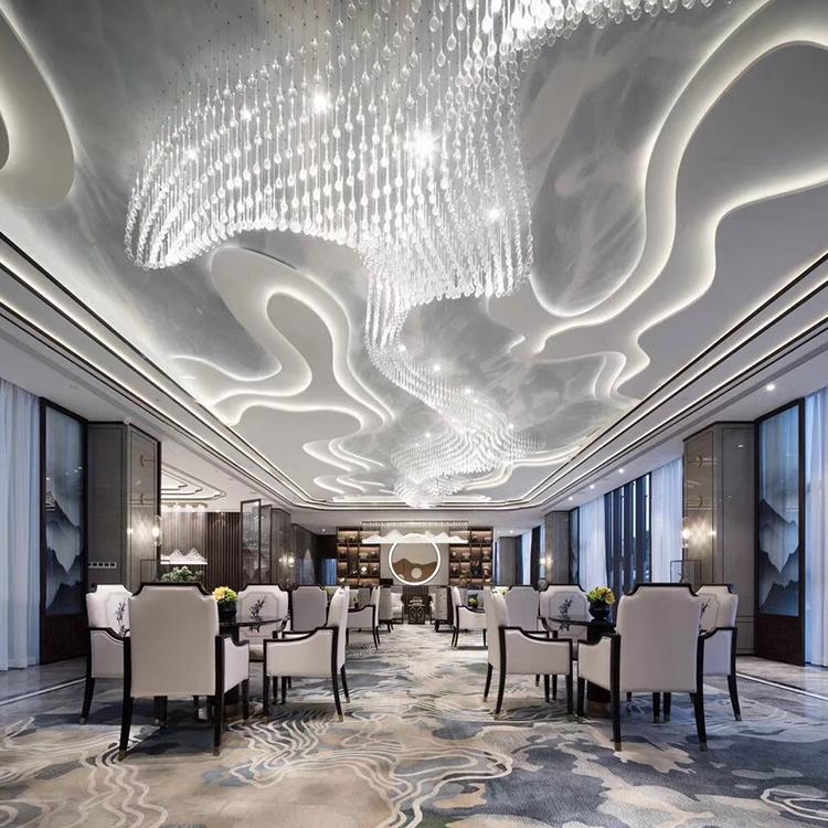 City hotel senior luxury indoor decoration crystal K9 custom chandelier pendant light
