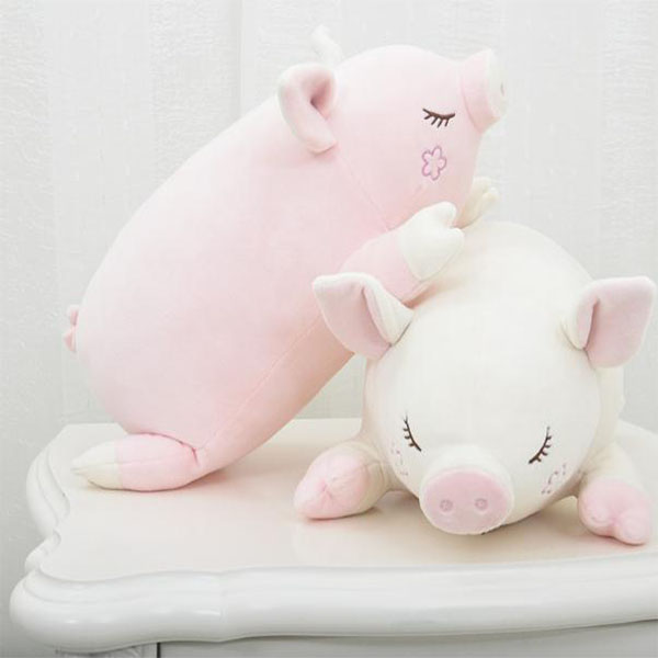 custom stuffed pink pig plush toy