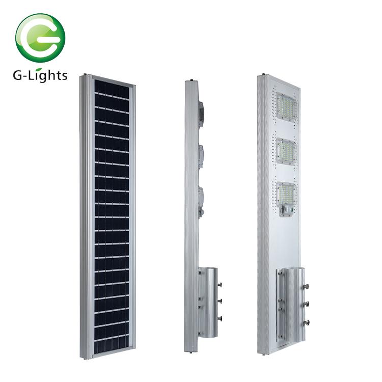 Outdoor waterproof ip65 garden highway motion sensor 50 100 150 watt all in one solar led street light
