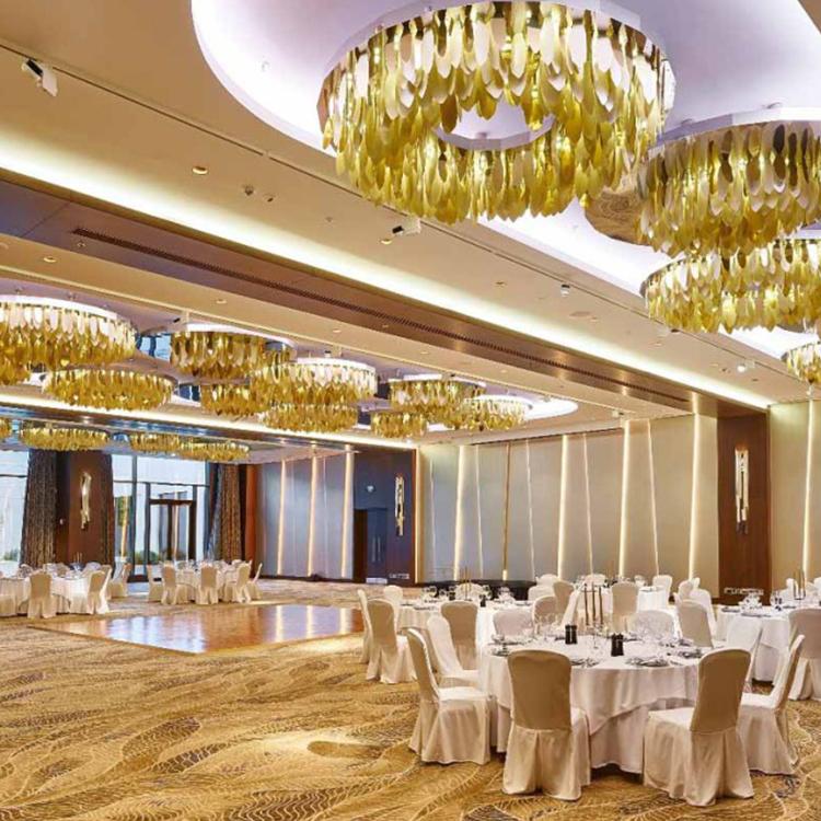 Creative personality customable luxury k9 crystal hotel lobby modern chandelier