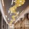 Hotel club custom decoration simple acrylic ABS long pendant light