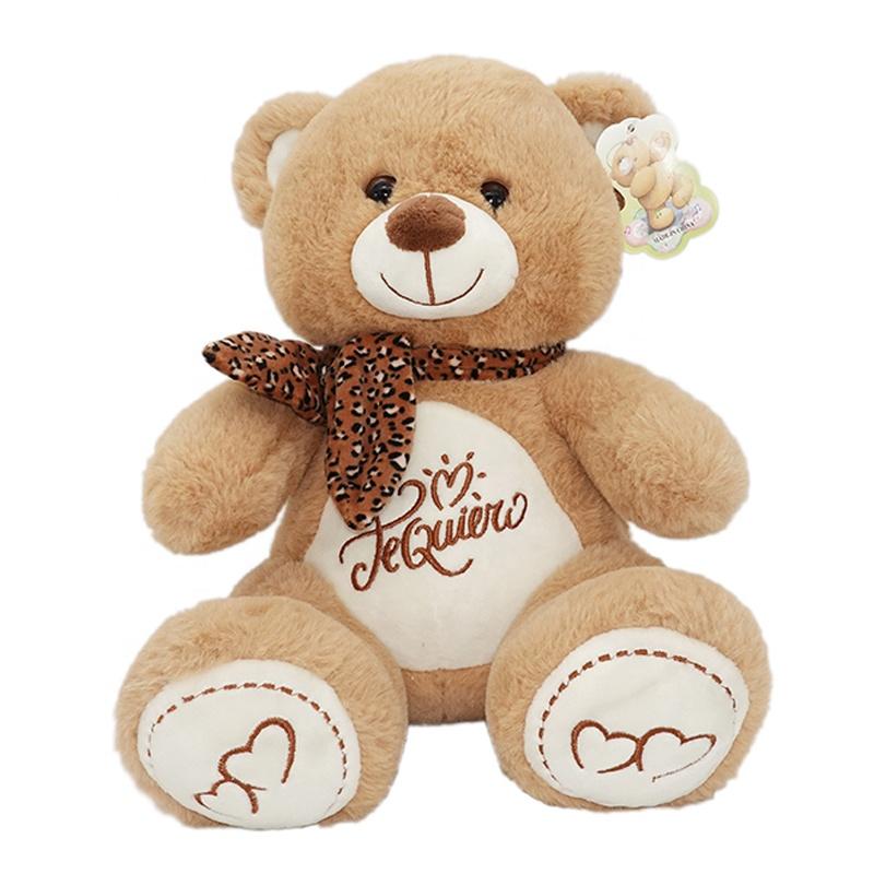 Light brown or brown cute stuffed animal plush teddy bears