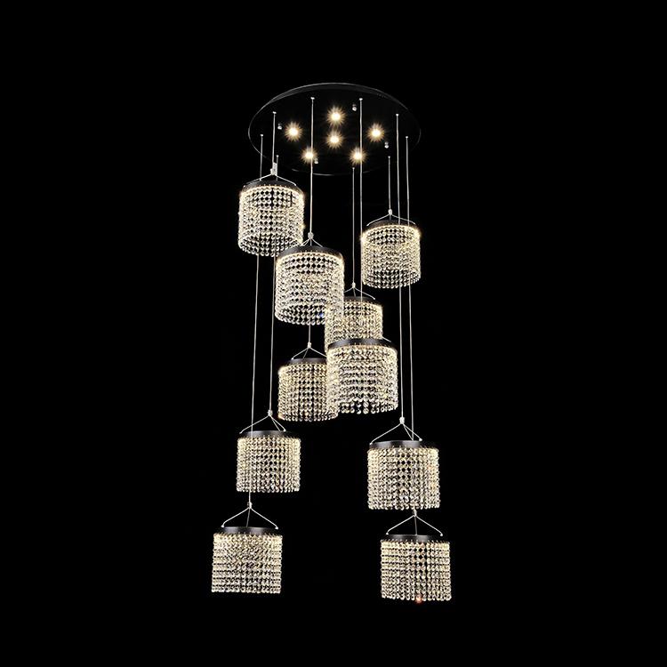 High quality contemporary luxury K9 crystal 72w 120w ceiling modern pendant light