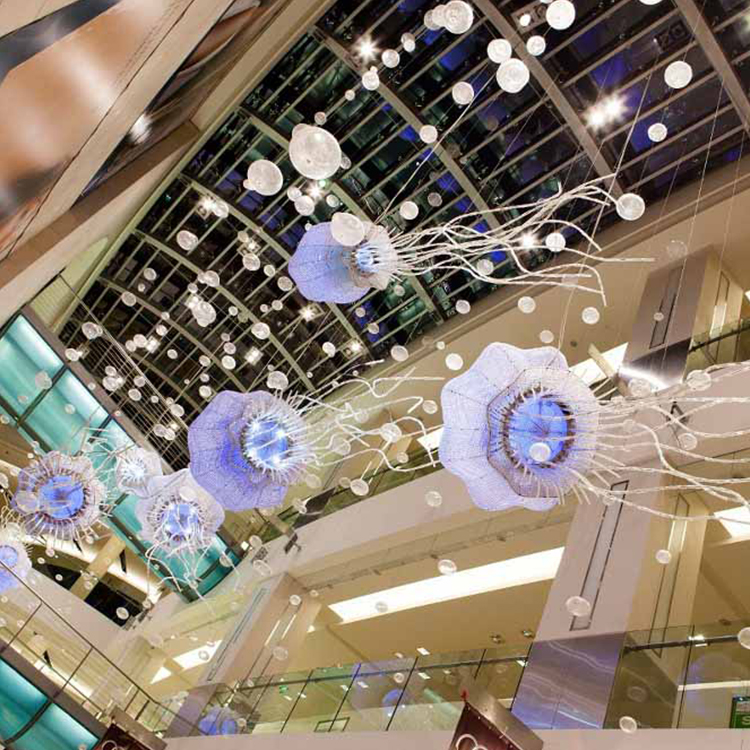 New style indoor decoration classic Color jellyfish shape big project chandelier