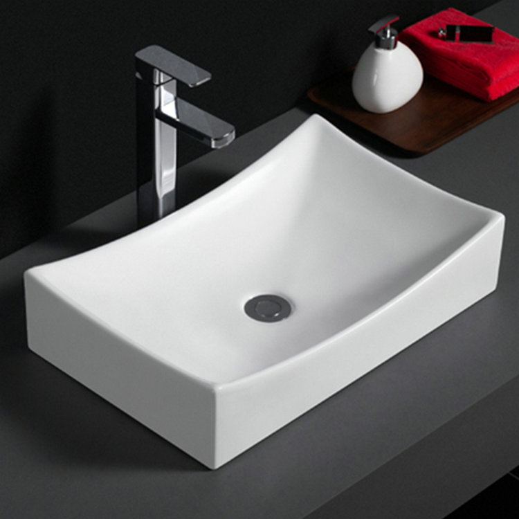 586 Ceramic sanitary ware modern design vitreous china hand wash basin