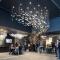 One-stop professional customization feather shape style hotel club art decoration pendant