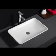 583 Wholesale white glaze plain flat european ceramic bathroom sinks for restaurant