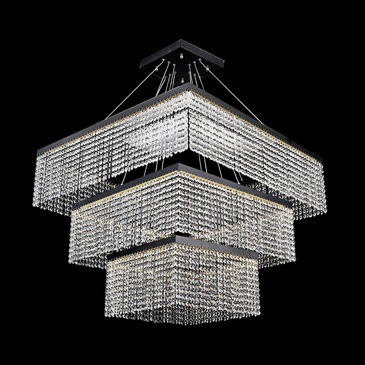 Zhongshan factory good quality 48w 72w 114w aluminum crystal led ceiling chinese style pendant lamp