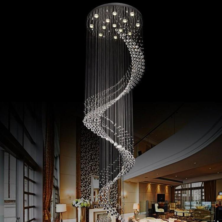 Modern decoration large luxury commerical art glass crystal chandelier lighting