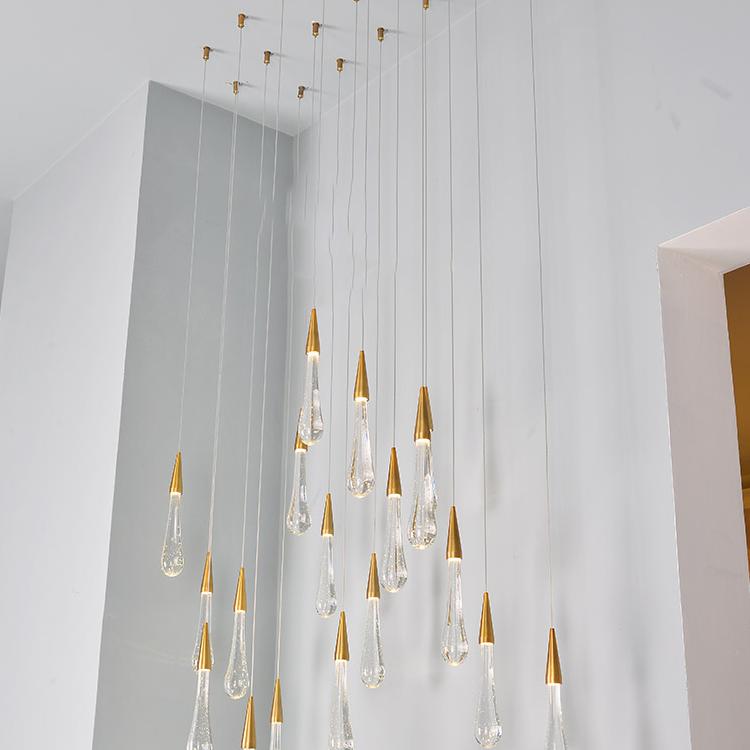 Hot sale led chandelier storefront crystal balls decoration light