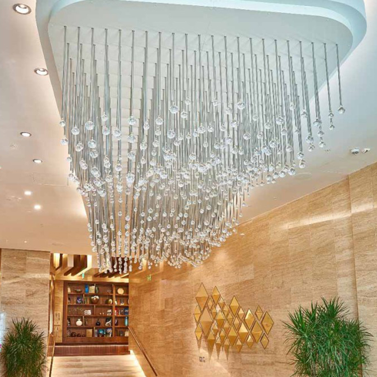 One stop custom design commercial customizable modern hotel lobby big project chandelier pendant light