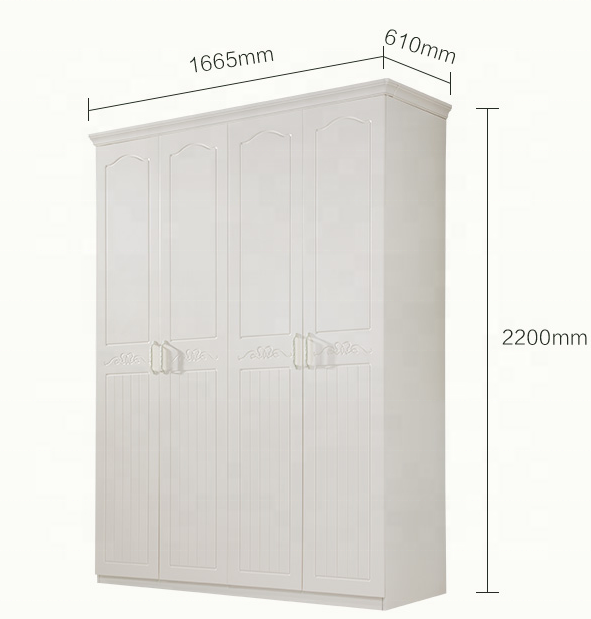 Low Price Particleboard Wardrobe HA-PW024-004