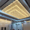Square commercial chandelier glass crystal custom big project led pendant light