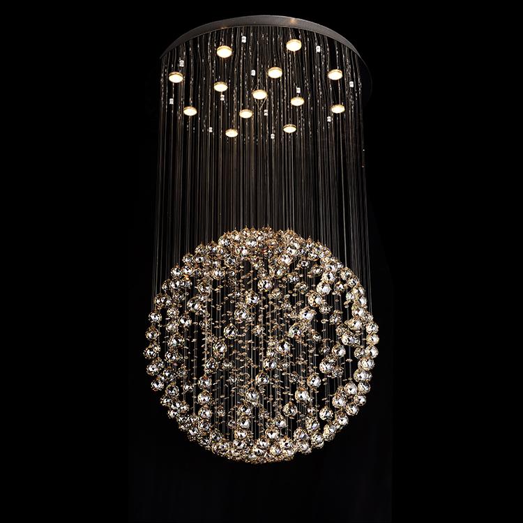 Chandelier lighting Luxury modern 220 volt glass K9 chrystal chandelier light