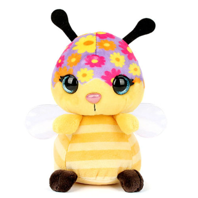 Make Design Your Own Soft Animal Doll Stuffed Embroidery Little Bee Plush Toy