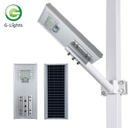 High quality 50w 100w 150w outdoor lighting IP65 Waterproof SMD All In One Solar Street Light