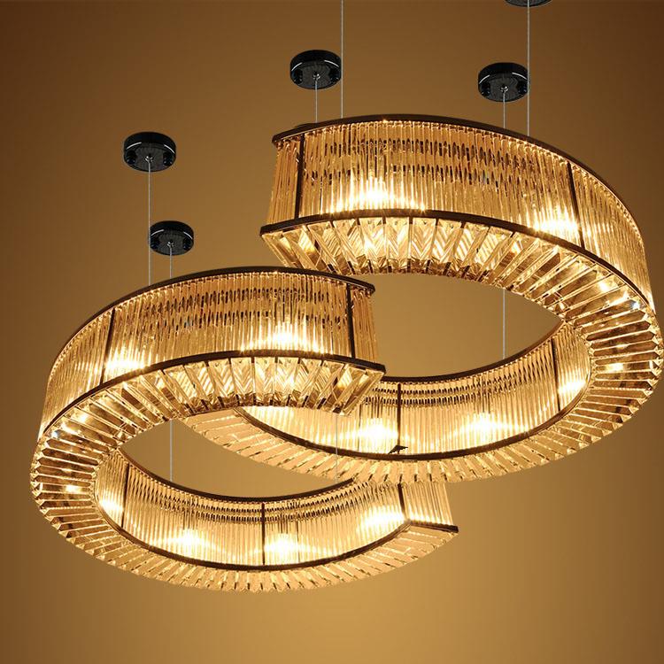 Modern Creative luxurious Home Decoration crystal led chandelier pendant light