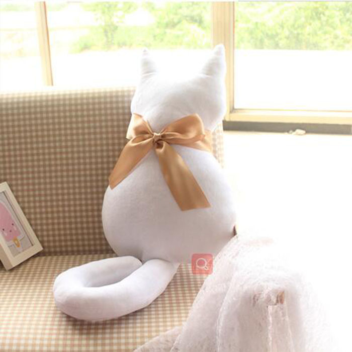 Custom White and Black Cat Stuffed Long Plush Toys