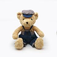 High quality plush teddy bear with cowboy dress