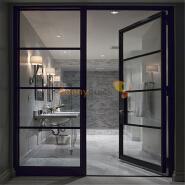 Sunnyquick security aluminum glass swing doors commercial aluminium casement door and frames grill design