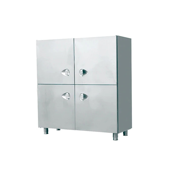 Modern Style High Gloss Adjustable foot Stainless Steel Kitchen Cabinet with four doors