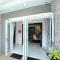 Sunnyquick aluminum glass double swing doors bathroom aluminium designs security casement door