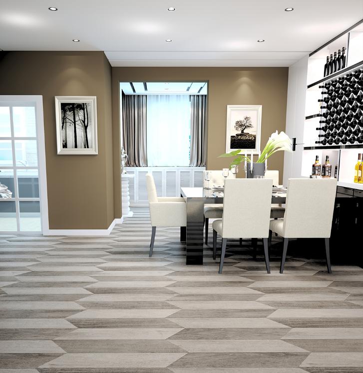 3D tiles inkjet printing wooden porcelain floor tiles