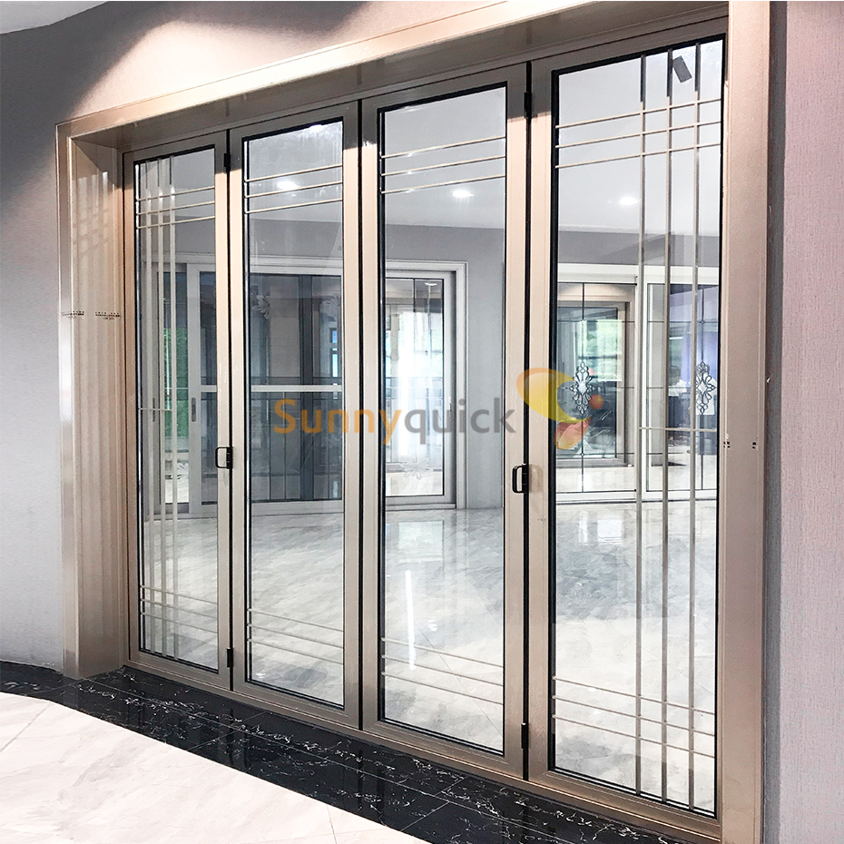 Sunnyquick hurricane impactaluminum glass slide and fold door profile for aluminium folding doors modern