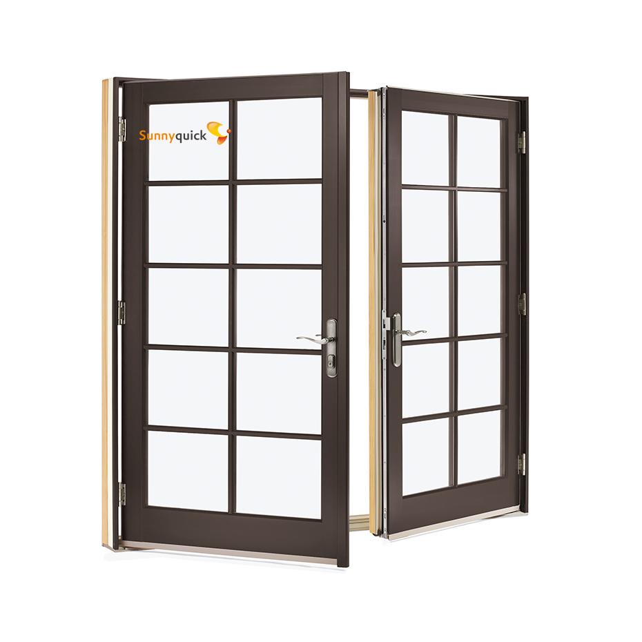 Sunnyquick aluminum glass swing doors and windows aluminium frames for doors windows grill design